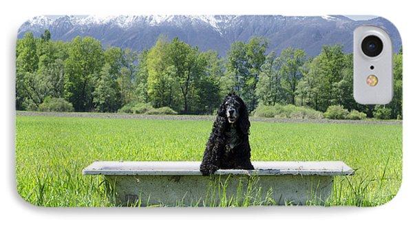 Dog In Bathtub IPhone Case