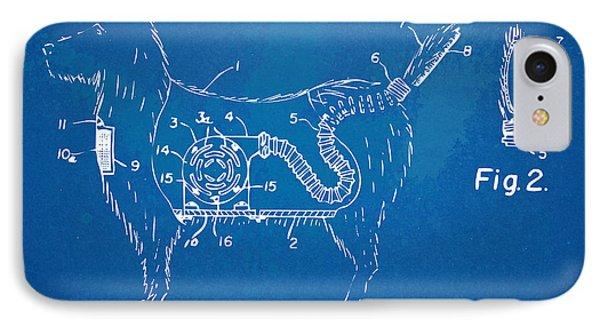 Doggie Vacuum Patent Artwork IPhone Case by Nikki Marie Smith