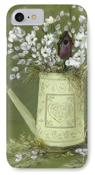 IPhone Case featuring the painting Dogwood Cuttings  by Nancy Patterson