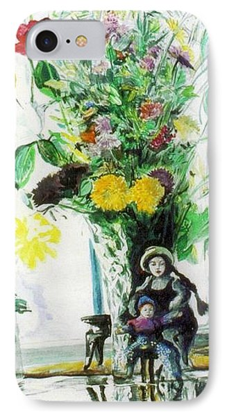 Dolls And Flowers IPhone Case