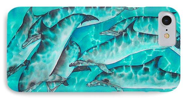 Dolphin Pod Phone Case by Daniel Jean-Baptiste