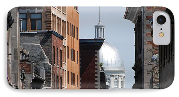 IPhone Case featuring the photograph Dome Bonsecours Market by John Schneider