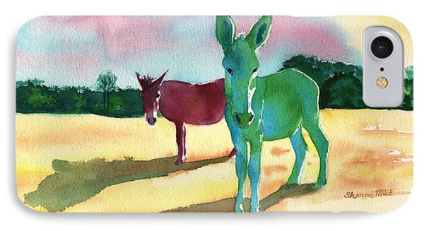 Donkeys With An Attitude IPhone Case by Sharon Mick