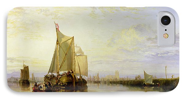 Dort Or Dordrecht - The Dort Packet-boat From Rotterdam Becalmed Phone Case by Joseph Mallord William Turner