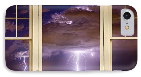 Double Lightning Strike Picture Window Phone Case by James BO  Insogna