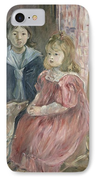 Double Portrait Of Charley And Jeannie Thomas Phone Case by Berthe Morisot