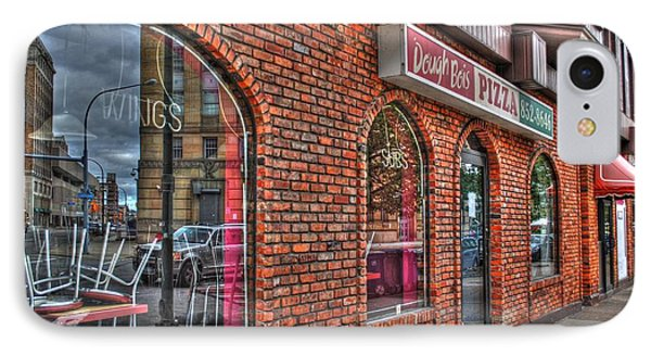 IPhone Case featuring the photograph Dough Bois Pizza by Michael Frank Jr