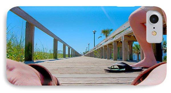 Down The Deck IPhone Case by Betsy Knapp