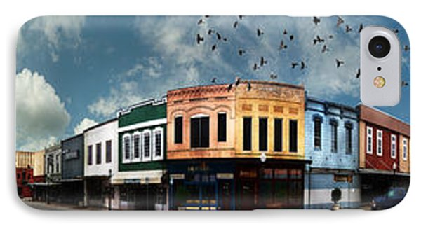 Downtown Bryan Texas Panorama 5 To 1 Phone Case by Nikki Marie Smith