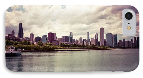 Downtown Chicago Skyline Lakefront IPhone Case by Paul Velgos