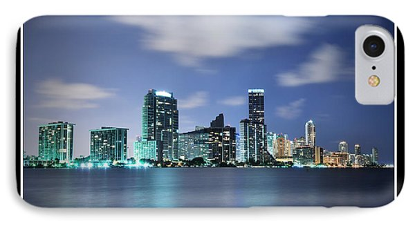 Downtown Miami At Night IPhone Case by Carsten Reisinger
