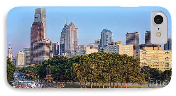 Downtown Philadelphia Skyline Phone Case by Olivier Le Queinec