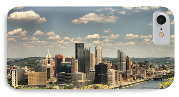 Downtown Pittsburgh Hdr Phone Case by Arthur Herold Jr