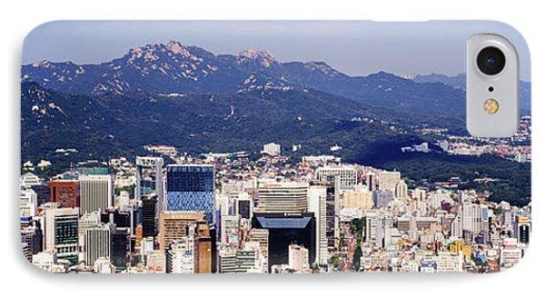 Downtown Seoul Skyline Phone Case by Jeremy Woodhouse