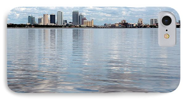 Downtown Tampa Over Hillsborough Bay Phone Case by Carol Groenen