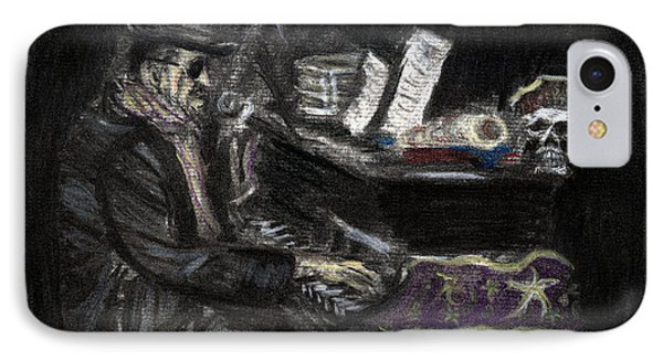 Dr. John In Charcoal And Pastel IPhone Case by Denny Morreale