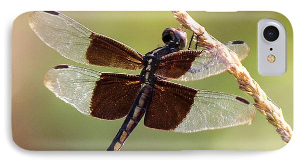 IPhone Case featuring the photograph Dragonfly Closeup by Kathy  White