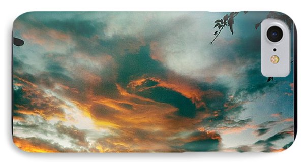 IPhone Case featuring the photograph Drama In The Sky by Nina Prommer