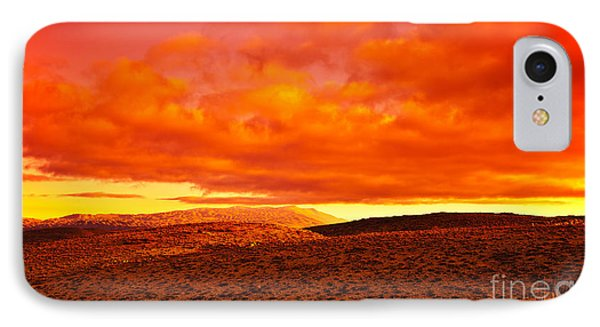 Dramatic Red Sunset At Desert Phone Case by Anna Om