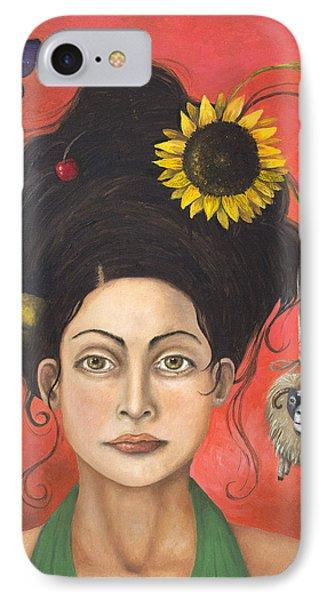 Dream Hair 2 Phone Case by Leah Saulnier The Painting Maniac