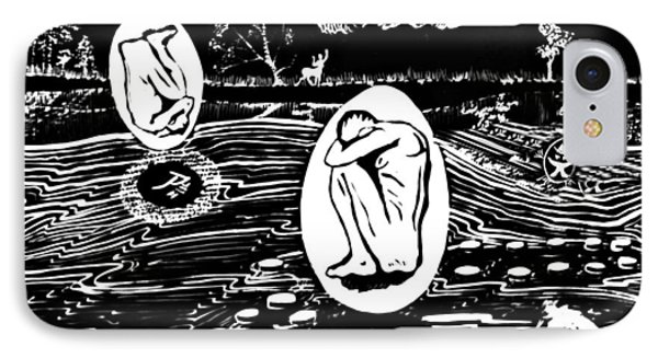 Dreaming In Black And White Phone Case by Ion vincent DAnu