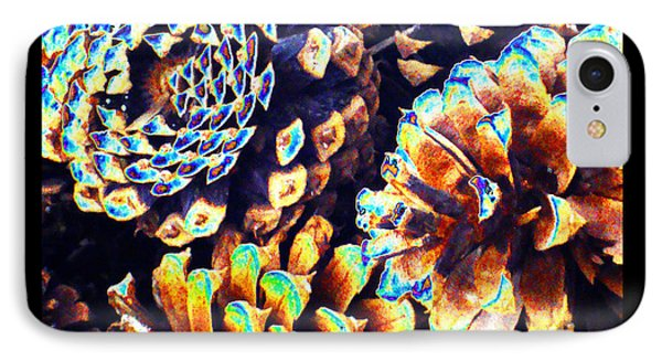IPhone Case featuring the photograph Dreamtime Pinecones by Susanne Still