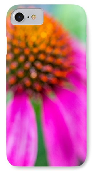 Dreamy Abstract Coneflower  IPhone Case by Susan Stone