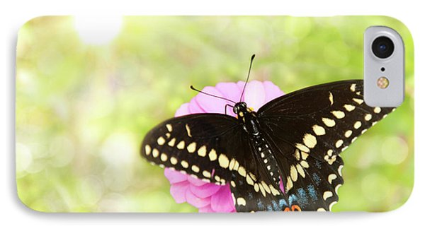 Dreamy Black Swallowtail Butterfly IPhone Case