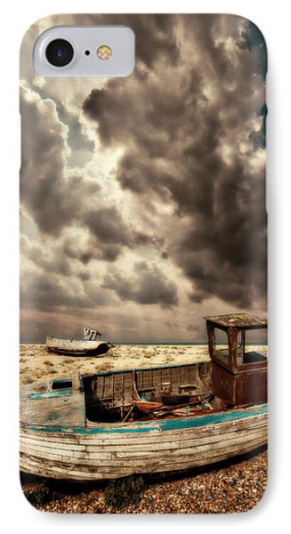 Dreamy Wrecked Wooden Fishing Boats Phone Case by Meirion Matthias