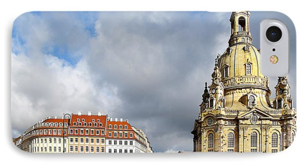 Dresden Church Of Our Lady And New Market Phone Case by Christine Till