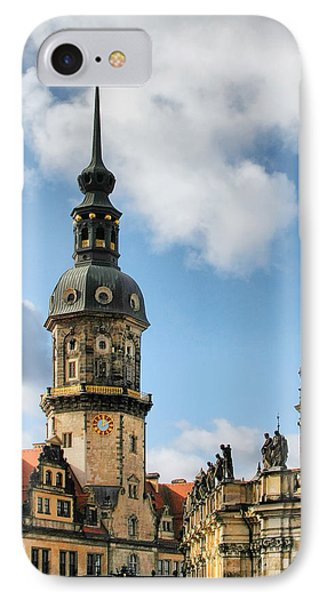 Dresden Hausmannsturm - Housemann Tower Phone Case by Christine Till