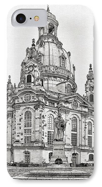 Dresden's Church Of Our Lady - Reminder Of Peace Phone Case by Christine Till