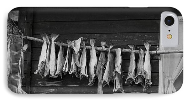 Dried Cod On A Line Phone Case by Heiko Koehrer-Wagner