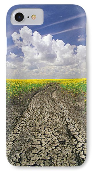 Dried Up Machinery Tracks Phone Case by Dave Reede