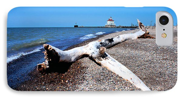 Driftwood At Erie IPhone Case by Michelle Joseph-Long