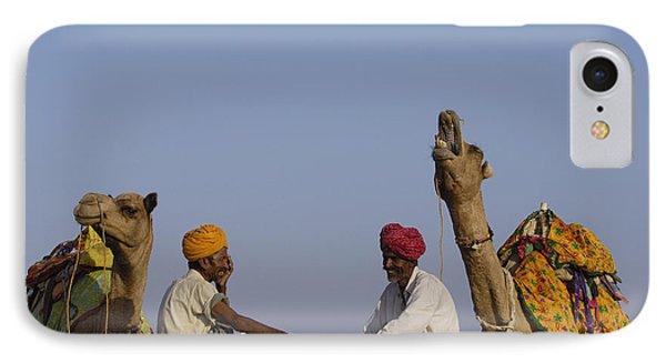 Dromedary Camelus Dromedaries Pair Phone Case by Pete Oxford