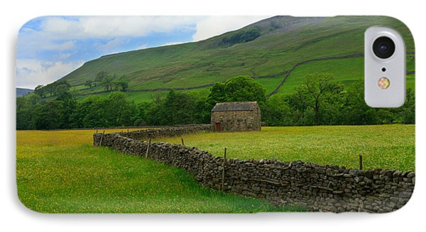 Dry Stone Walls And Stone Barn Phone Case by Louise Heusinkveld
