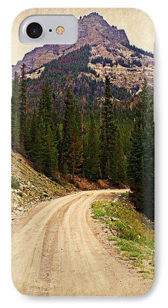 Dubois Mountain Road Phone Case by Marty Koch