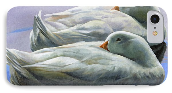Duck Nap IPhone Case by Alecia Underhill