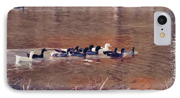 Ducks On Canvas Phone Case by Douglas Barnard