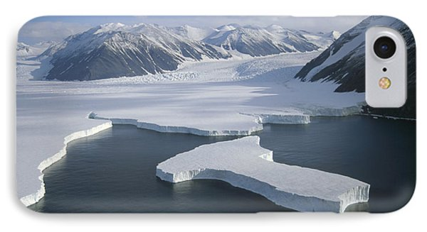 Dugdale And Murray Glaciers Antarctica Phone Case by Tui DeRoy