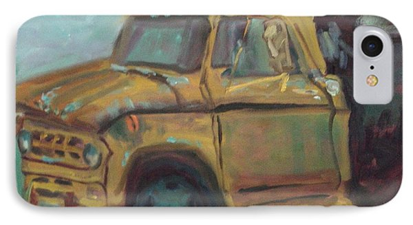 IPhone Case featuring the painting Dump Truck by Carol Berning
