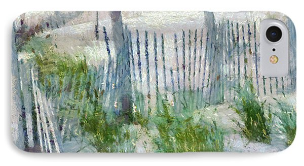 Dune Fences At Cape Hatteras National Seashore Phone Case by Anne Kitzman