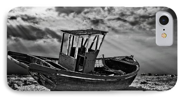 Dungeness In Mono Phone Case by Meirion Matthias