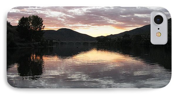 IPhone Case featuring the photograph Dusk On The River by Arlene Carmel