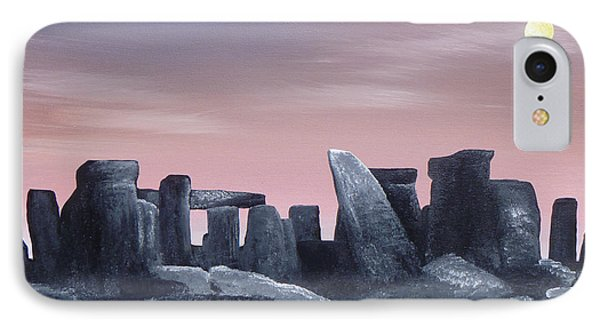 Dusk On The Winter Solstice At Stonehenge 1877 Phone Case by Alys Caviness-Gober