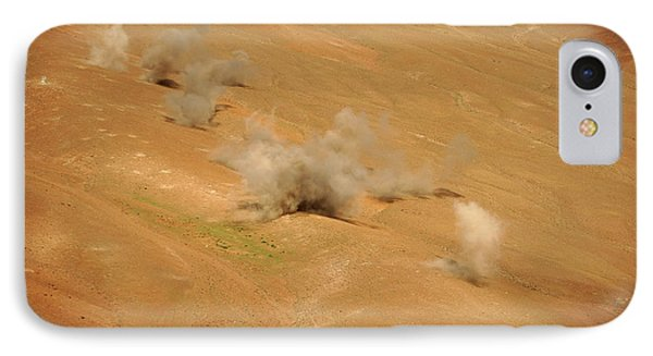 Dust Rises From The Impact Points Of Kp Phone Case by Stocktrek Images
