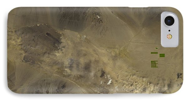 Dust Storm In Southern California Phone Case by Nasa