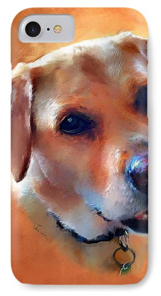 IPhone Case featuring the painting Dusty Labrador Dog by Robert Smith