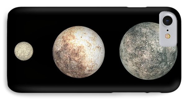 Dwarf Planets Ceres, Pluto, And Eris Phone Case by Walter Myers
